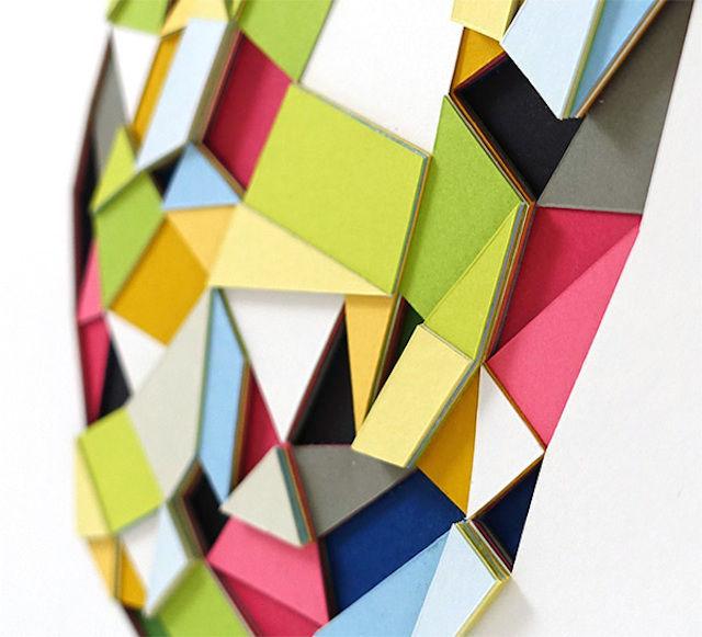 Polygonal Paper Art Sculptures
