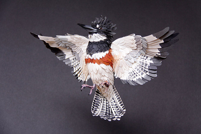 Corrugated Bird Sculptures