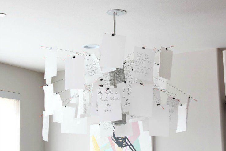 Custom Paper Chandeliers