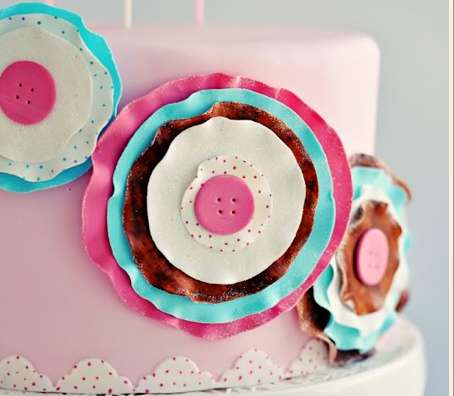 Paper Craft Sugar Posy Cake