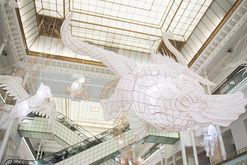 Paper Creature Installations