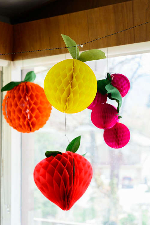 Festive Fruity Paper Decorations