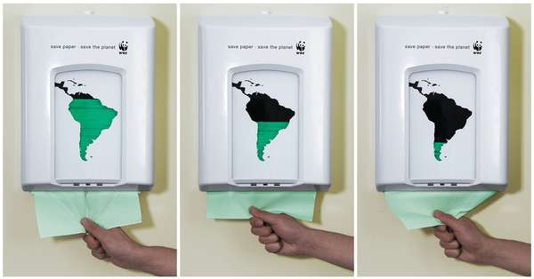 Paper Dispenser Encourages Green