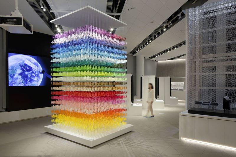 Multi-Colored Paper Installations