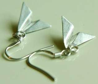 paper plane earrings by yellowgoat