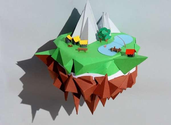 Paper Landscape Constructions