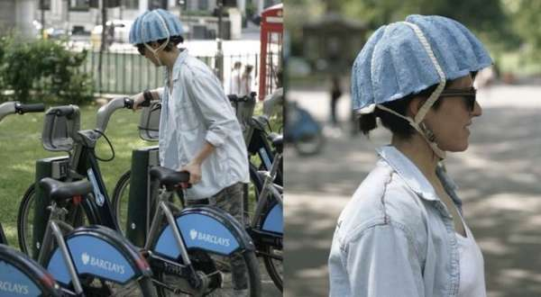 Newspaper-Based Bike Helmets