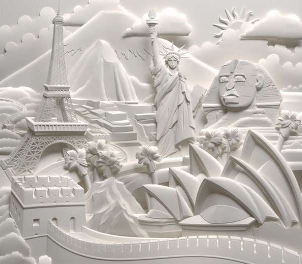 Intricate Scene Papercrafts