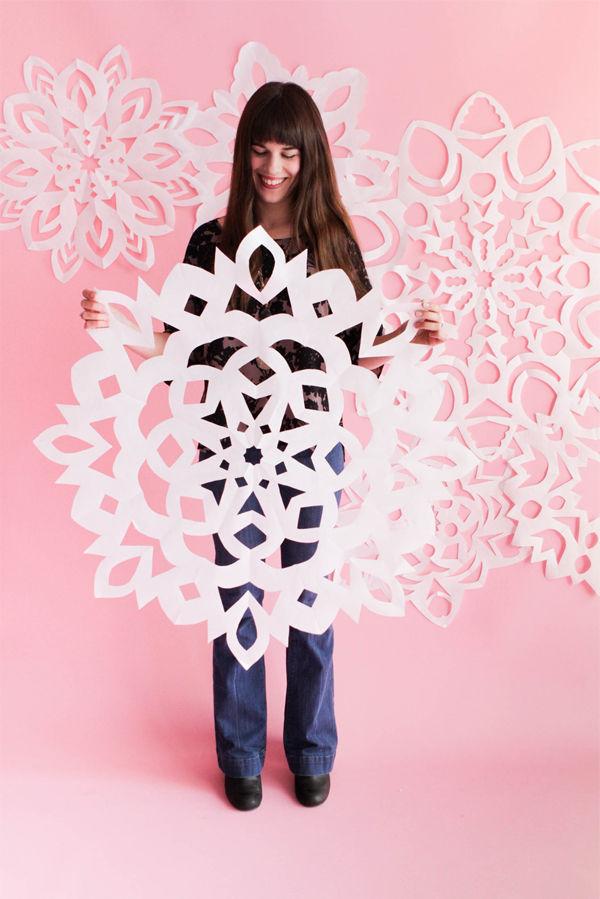 Oversized Snowflake Decor