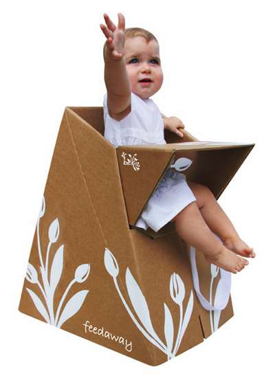 Cardboard High Chairs Paper Tiger Recycled Products By