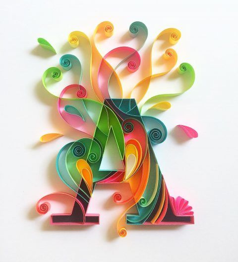 Whimsical Paper Typography