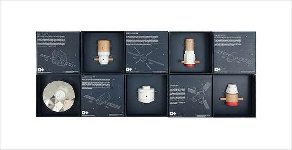 Wooden Toy Satellites