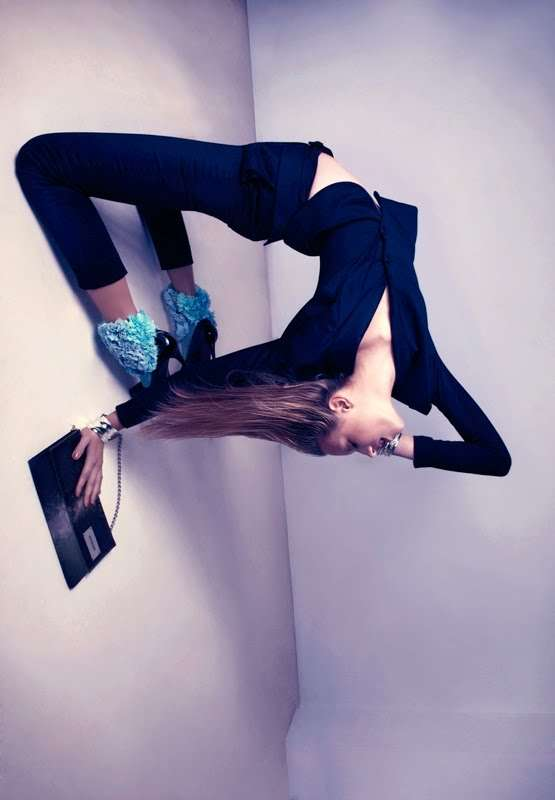 Blue Contortionist Fashion