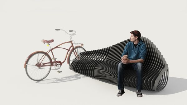 Bike Rack Benches