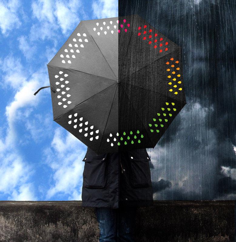 Color-Changing Umbrellas