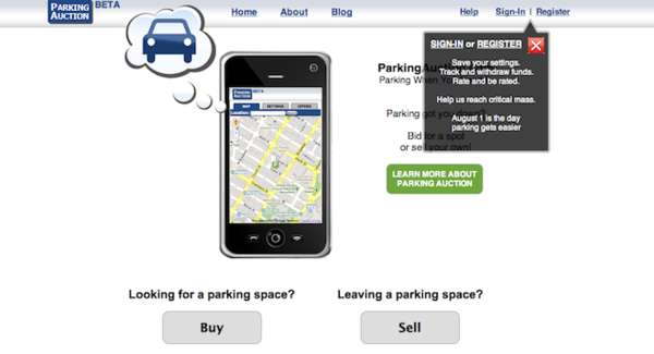 ParkingAuction App