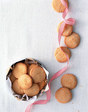 Savory Christmas Cookies Parmesan Shortbread Rounds