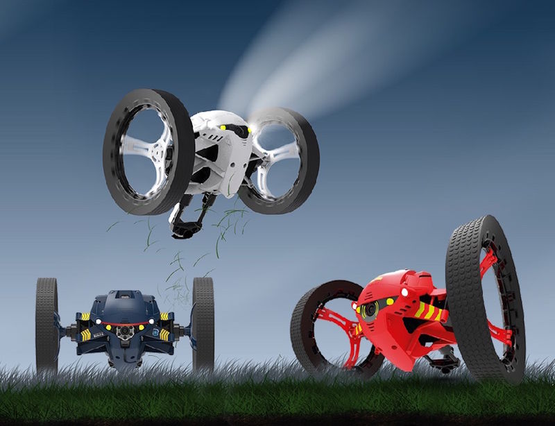 Stealth Jumping Drones