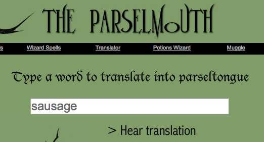 Parseltongue translator