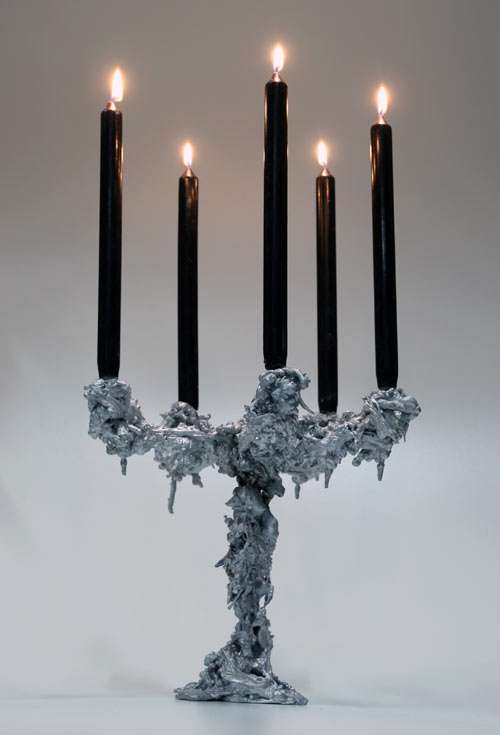 Melted Candle Holders