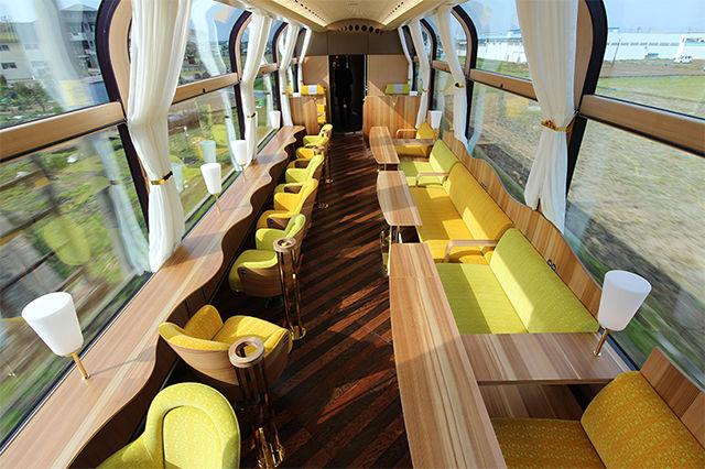 Panoramic Train Interiors