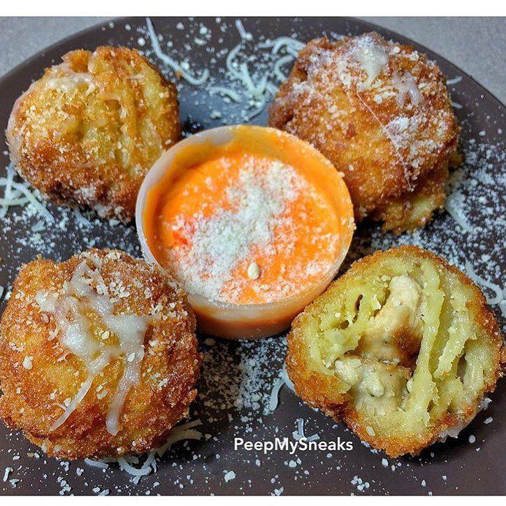 Fried Alfredo Pasta Balls