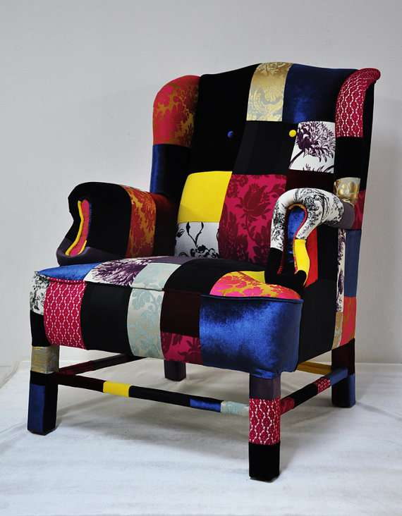 intricately patterned furniture patchwork sofas. Black Bedroom Furniture Sets. Home Design Ideas