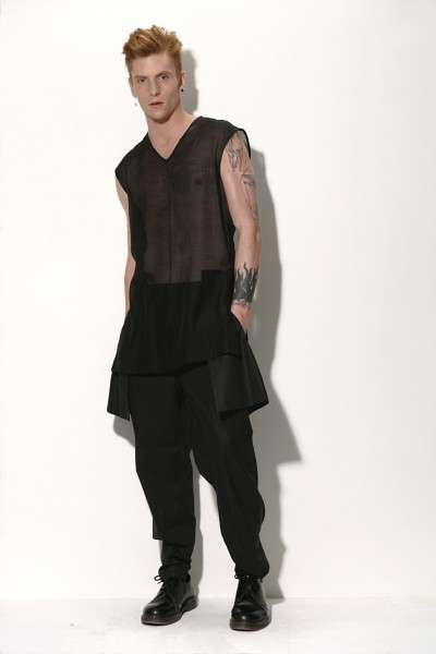 Sheer-Accented Menswear