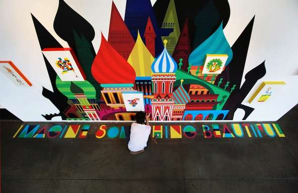Massive Multi-Colored Murals