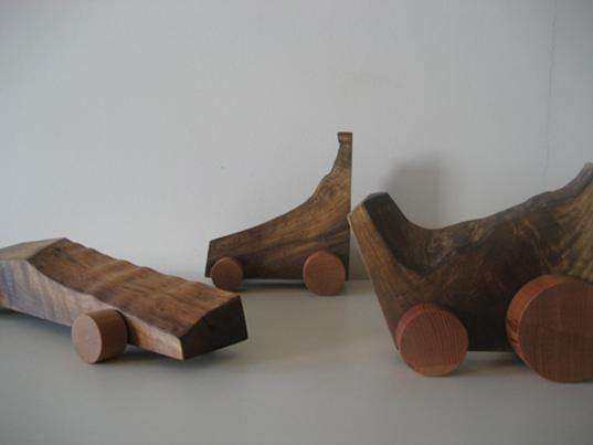 Chunky Wooden Toy Cars