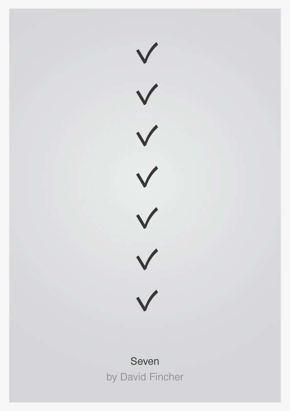 Minimalist Typographic Movie Posters