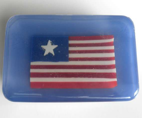 patriotic american flag soap