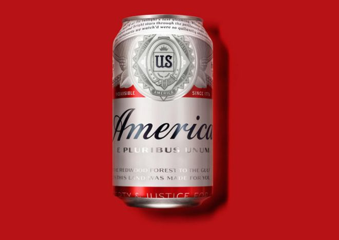 Patriotic Beer Rebrandings