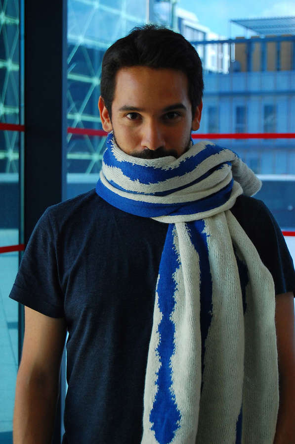 Brainwave-Patterned Scarves