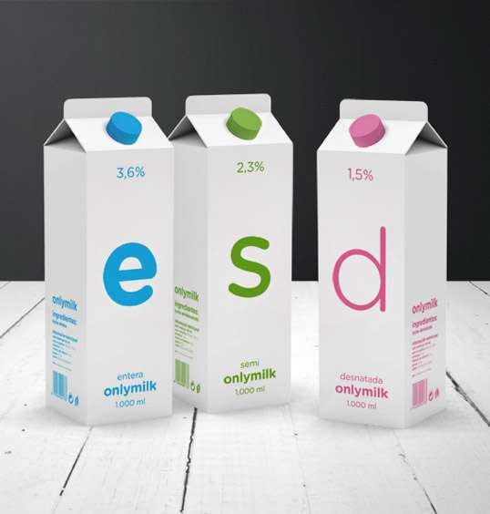 Quirky Simplistic Milk Cartons