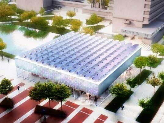 Solarific See-Through Pavilions