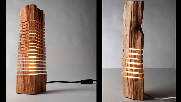 Sliced Jenga Lamps