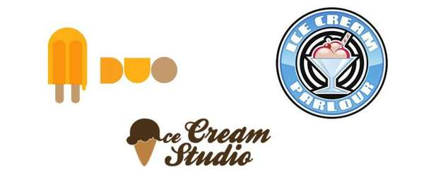 Fictional Ice Cream Logos