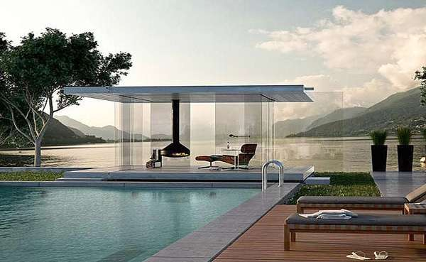 Panoramic Transparent Pavilions
