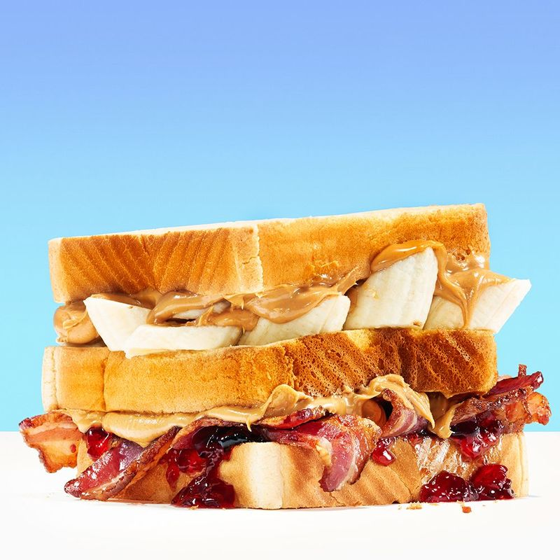 Banana Bacon Sandwiches