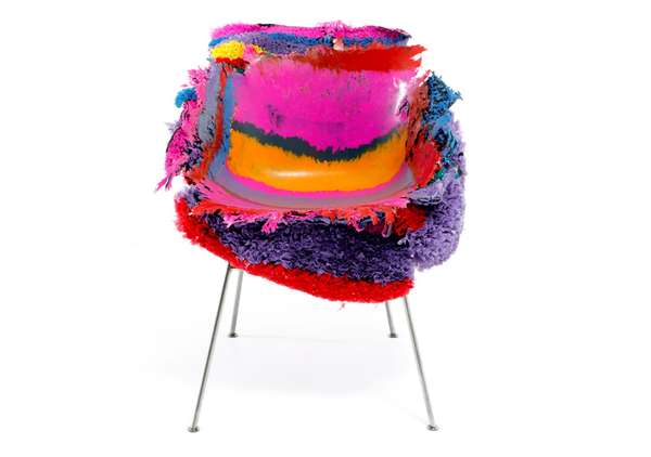 PE Stripe Meltdown Chair by Tom Price