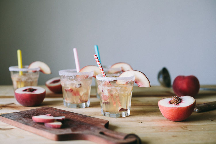Peachy Green Tea Cocktails