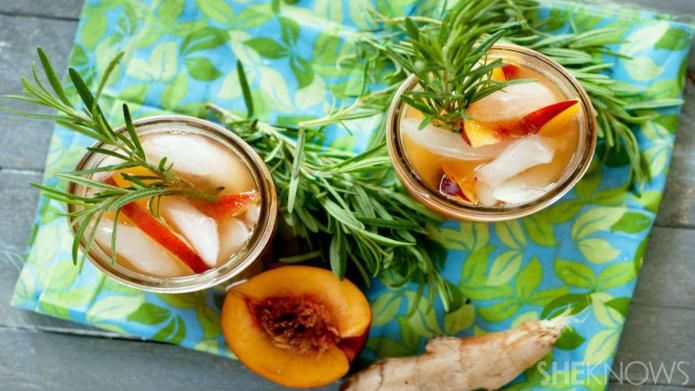 Rosemary Peach Green Teas