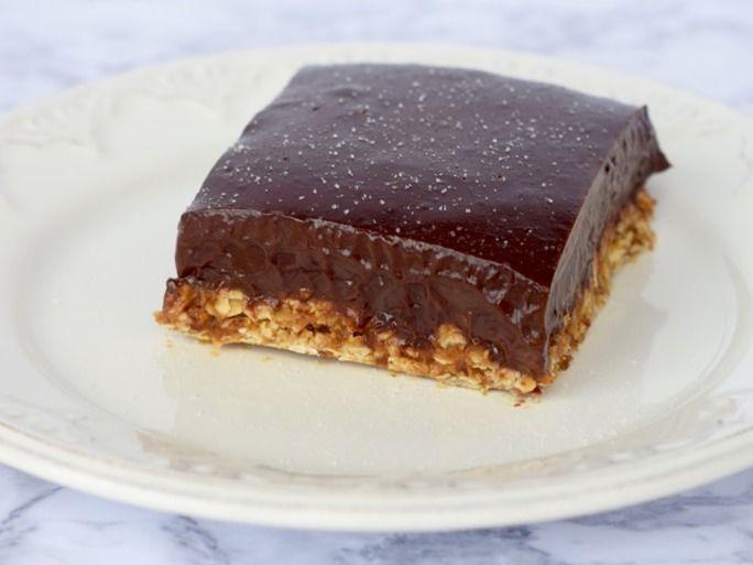 Peanutty Chocolate Ganache Bars