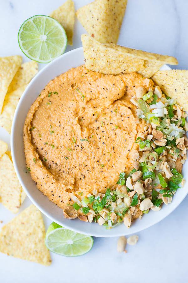 Peanutty Homemade Hummus
