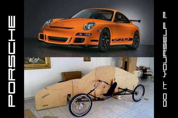pedal-powered Porsche model