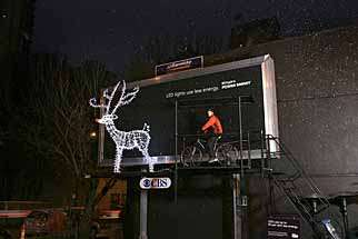 Pedaler Powered Billboard