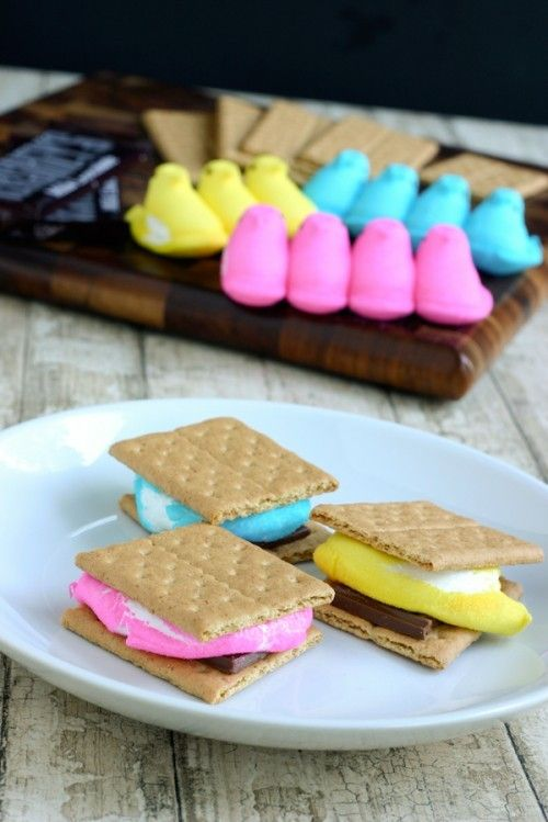 Colorful Easter Marshmallow S'mores