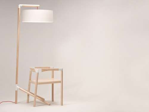 Peg Lamp and Chair