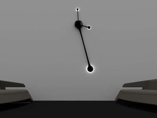 Futuristic Longcase Time-Tellers